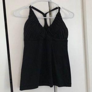 Lululemon Y back black tank top